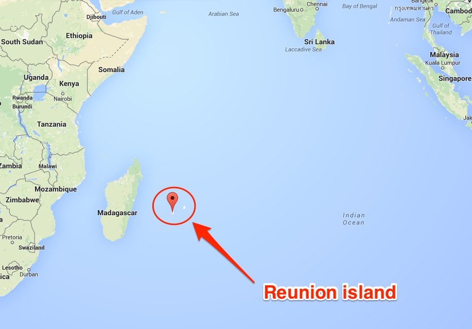 Map Of Indian Ocean Reunion Island