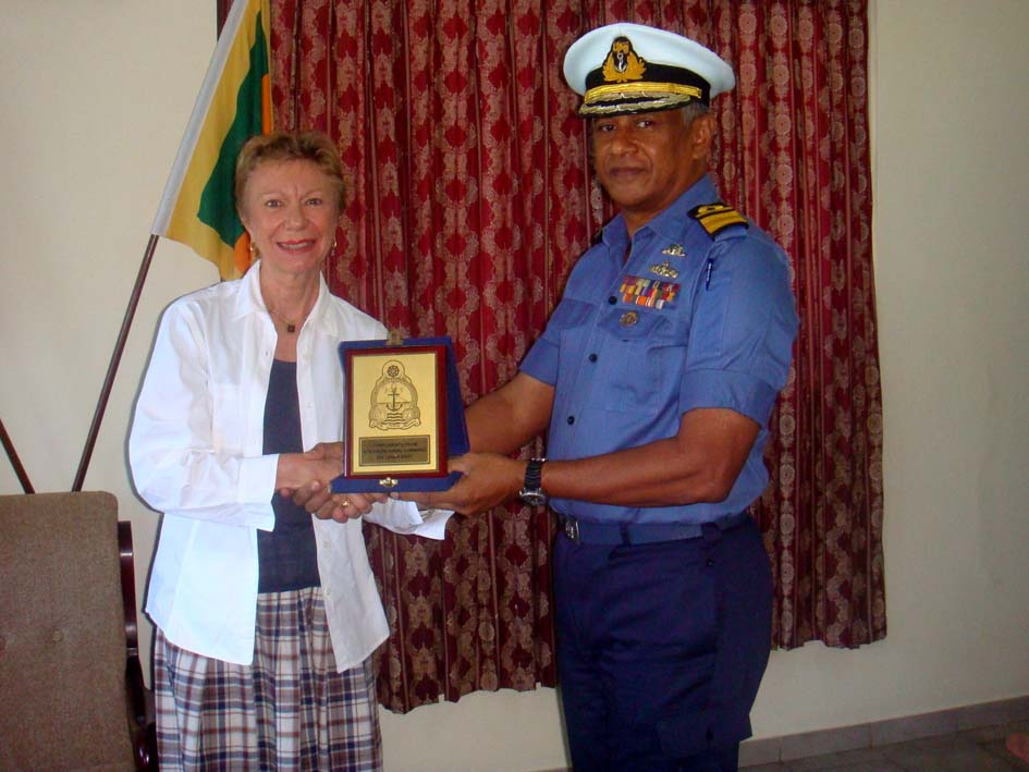 H.E Christine Robichon meets with the Commander Northern Naval Area, Rear Admiral Shirantha Udawatta, in Jaffna peninsula. - JPEG