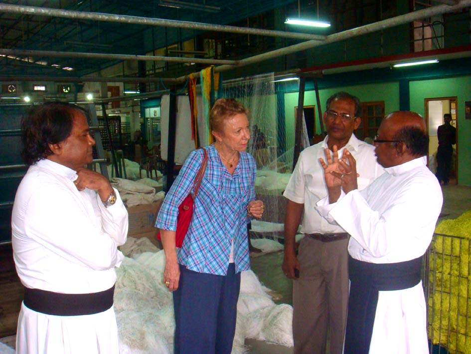 Visiting caritas run VICJAF fishnet factory in Jaffna . - JPEG